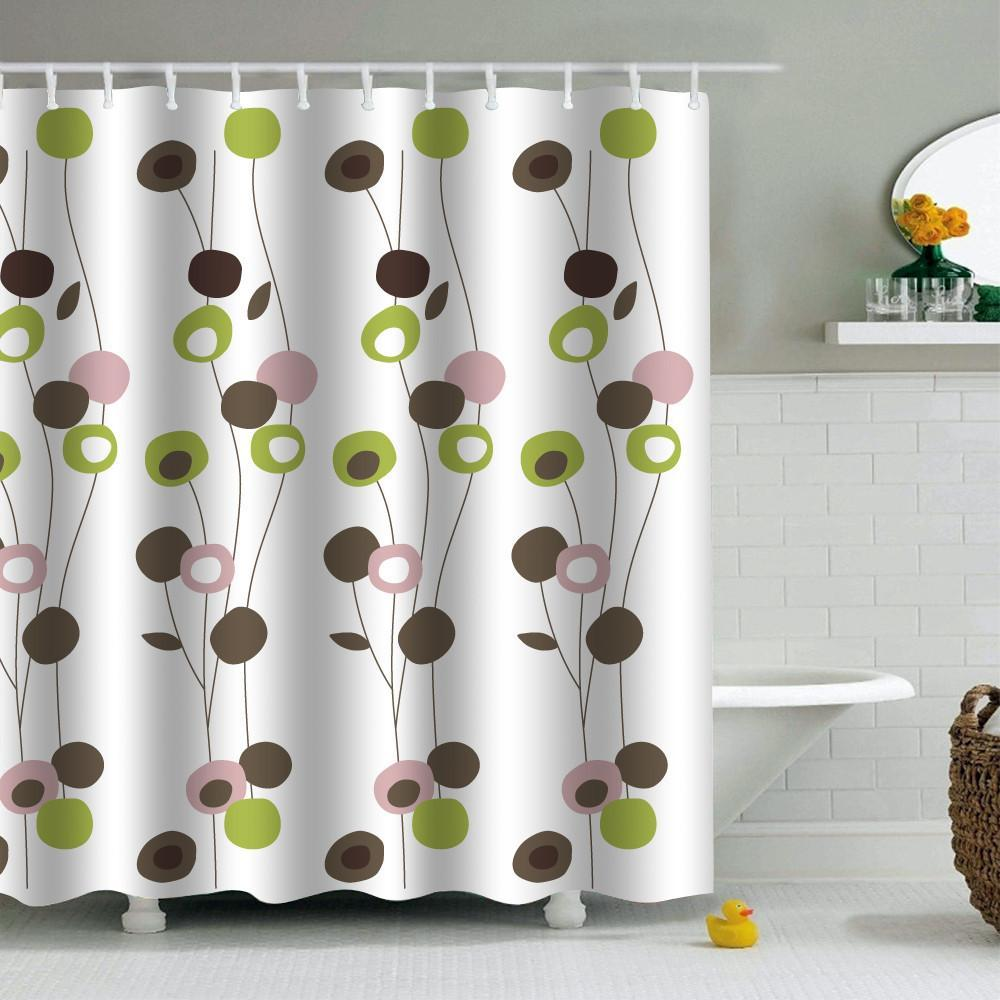 Fashion Waterproof PVEA Fabric Bathroom Shower Curtain