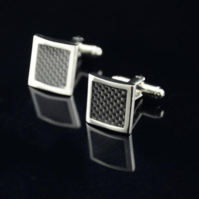 Outlet Appeal Default Title Stainless Steel Silver Square Vintage Men's Wedding Gift Cuff Links