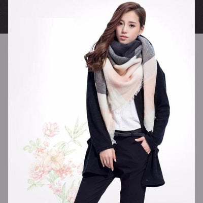 Outlet Appeal Designer Triangle Cashmere Plaid Scarf For Women