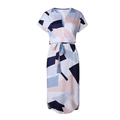 Outlet Appeal dress Picture Color / S V-Neck Printed Dress