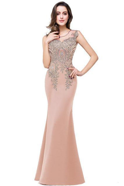 Outlet Appeal dusty pink / 2 Lace Mermaid Prom Dresses Long Embroidery Evening Party Dress