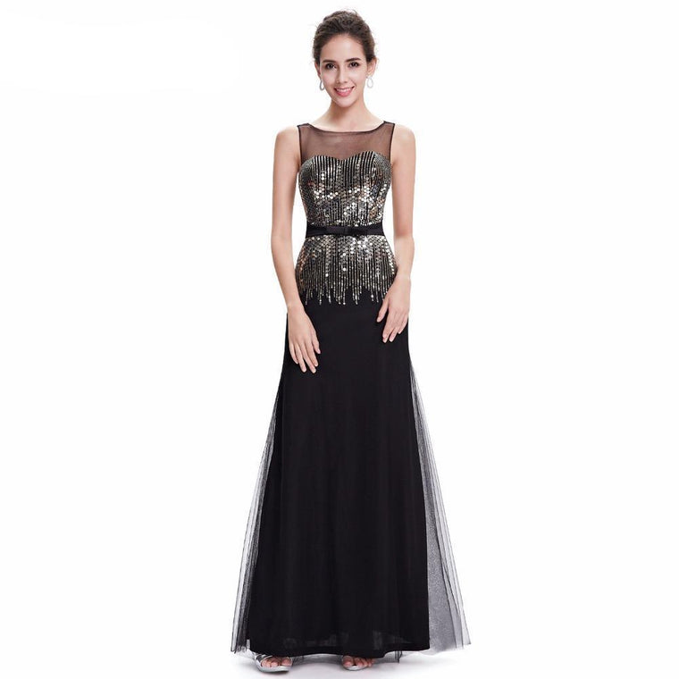 b2afd79d5aa Outlet Appeal Ever Pretty Evening Dresses Elegant Black Sleeveless Long  Round Neck Formal