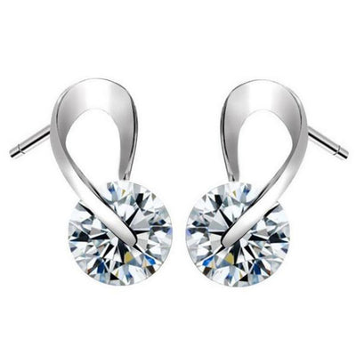 Outlet Appeal Fashion Women Crystal Rhinestone Pearl Ear Earrings Jewelry