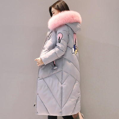 Outlet Appeal Fur Collar Long Winter Coat