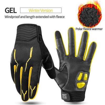 Outlet Appeal GEL Winter Yellow / XL / China Cycling Bike Gloves Touch Screen Shockproof MTB Road Bike