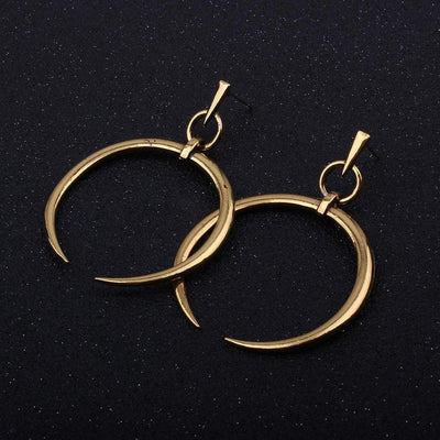 Outlet Appeal Gold / one-size 1 Pair New Fashion Lady Women Thin Round Big Large Dangle Hoop Loop Earrings