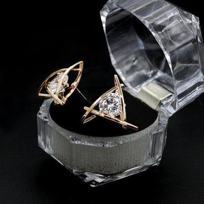 Outlet Appeal Gold / one-size Women Fashion Lovely Elegant Crystal Rhinestone Square Ear Stud Earrings Hot GD