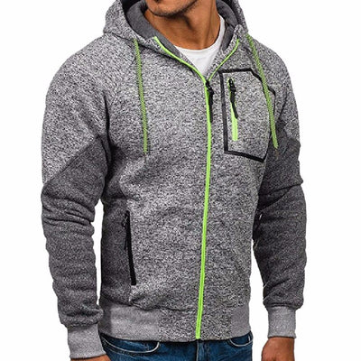 Outlet Appeal Gray / 3xl New Men's Outwear Sweater Winter Hoodie Warm Coat Jacket Slim Hooded Sweatshirt