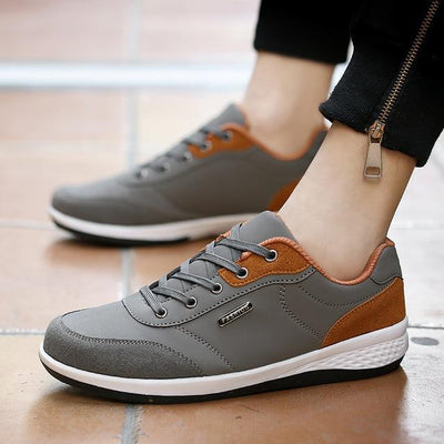 Microfiber Lace-Up Sneakers
