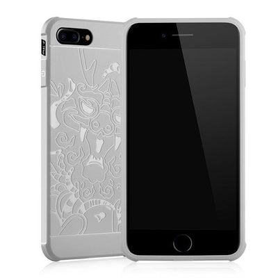 Outlet Appeal Gray Case Pattern / For iPhone 7 ARTISOME Dragon Pattern Case For iPhone 7 Soft Silicone