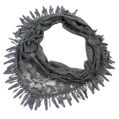 Outlet Appeal Gray / China 135cm-175cm Women Lady Long Lace Rose Flower Triangular Mantilla Scarf Wrap Shawl bandana