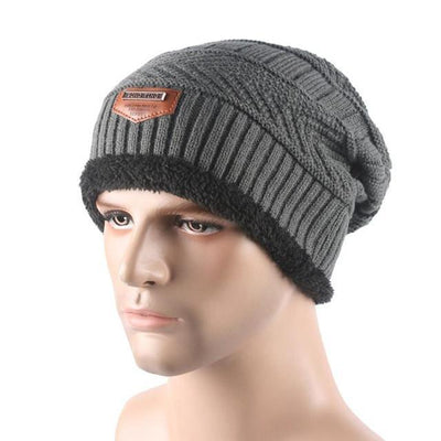 Outlet Appeal Gray / China Winter Warm Men Beanie Bonnet Baggy Knitted Solid Hats Plain Caps Oversize Ski Skullies Beanies Hats
