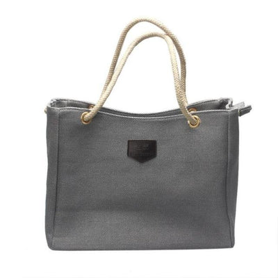 Outlet Appeal Gray Japan Canvas Personality Contracted Bag Single Or Double Shoulder