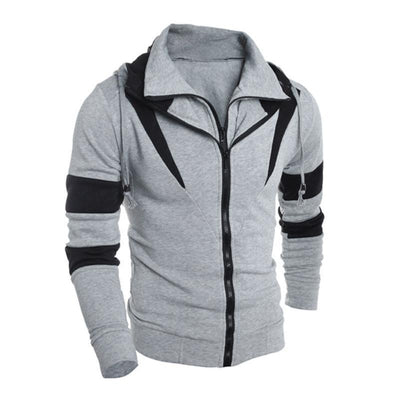 Outlet Appeal Gray / L Men Retro Long Sleeve Hoodie Hooded Sweatshirt Tops Jacket Coat Outwear