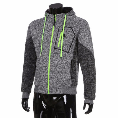 Outlet Appeal Gray / L New Men's Outwear Sweater Winter Hoodie Warm Coat Jacket Slim Hooded Sweatshirt