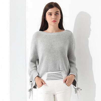 Outlet Appeal Gray / L Sweater Women Loose Jumper Women Sweaters And Pullover Female Knit Tops GAREMAY