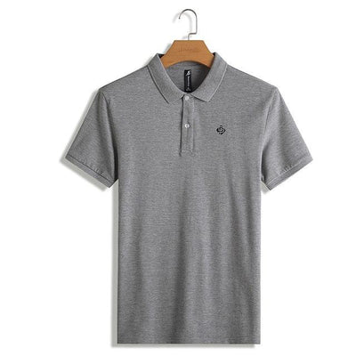Outlet Appeal Gray / M / China Pioneer Camp Polo shirts men solid polos male top quality 100% cotton casual summer