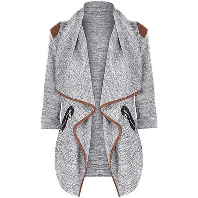 Outlet Appeal Gray / M / China Winter Coat - Vintage Knitted Long Cardigan