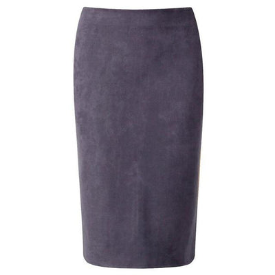 Outlet Appeal Gray / M Women Suede Midi Pencil Skirts Causal High Waist Sexy Stretch Ladies Office Work Wear