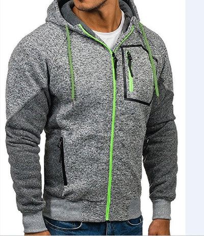 Outlet Appeal Gray / XL New Men's Outwear Sweater Winter Hoodie Warm Coat Jacket Slim Hooded Sweatshirt