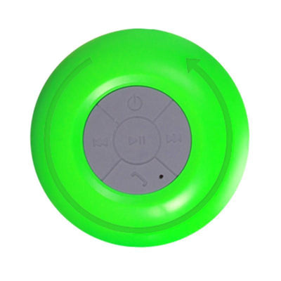 Outlet Appeal Green Mini Subwoofer Handsfree Built-in Suction-Cup Bluetooth Speaker