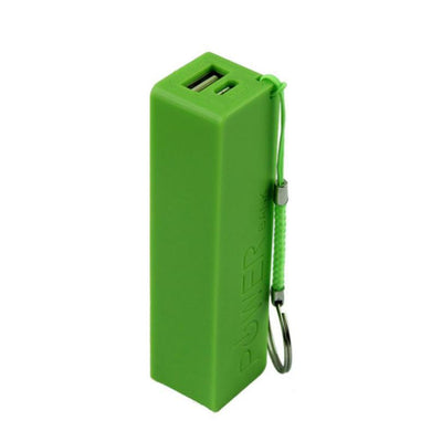 Outlet Appeal Green Portable Power Bank - External Backup Battery