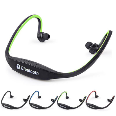 Outlet Appeal Green Sports Bluetooth Earphone S9 Support TF/SD Card Wirless Hand-free Auriculares Bluetooth Headphones