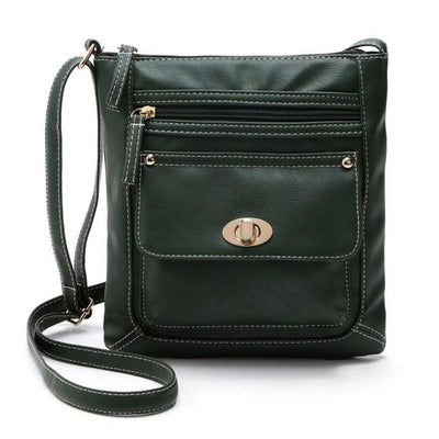 Outlet Appeal Green Women Bag Leather Satchel Cross Body Shoulder Handbags Women Messenger Bag