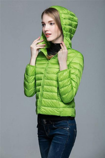 Outlet Appeal Green / XXL / China Women Ultra Light Down Coat Outwear Jacket