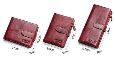 Outlet Appeal GZCZ Genuine Leather Women Wallet Lady Long Wallet Coin Purse Purse Clutch Handy