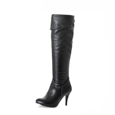 Outlet Appeal High Heel Knee High Boots Fashion Snow Long Boot Warm Winter Brand Footwear Heels Shoes