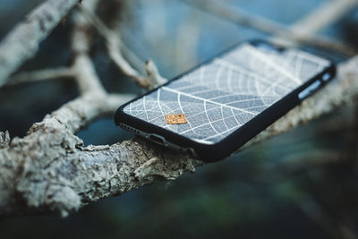 Outlet Appeal iPhone 5/5S/SE / Black MMORE Organika Skeleton Leaves Phone case - Phone Cover - Phone accessories