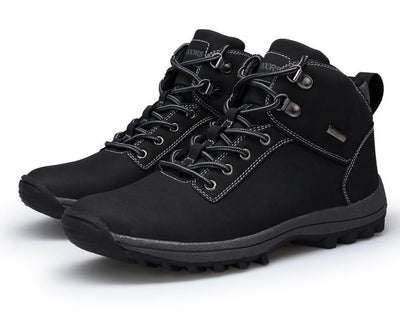 Men's Faux Leather Water Resistant Lace Up Boots