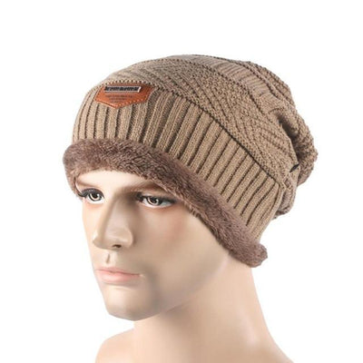 Outlet Appeal Khaki / China Winter Warm Men Beanie Bonnet Baggy Knitted Solid Hats Plain Caps Oversize Ski Skullies Beanies Hats