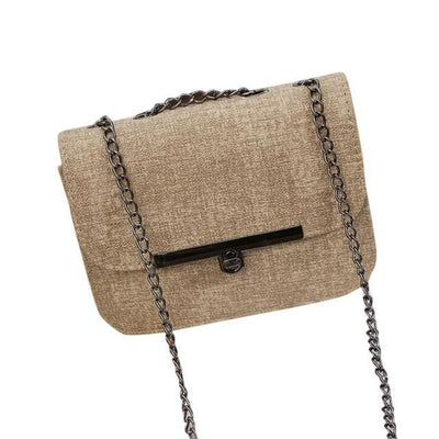 Outlet Appeal Khaki Ladies Shoulder Messenger Bag Fashion Women Leather Chain Handbag Cross Body Bag