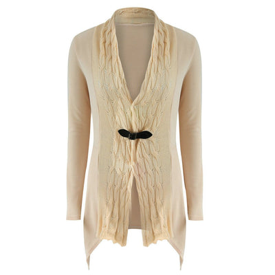 Outlet Appeal Khaki / XL Women's Outwear Fashionable Cardigan Sweater Long Sleeves