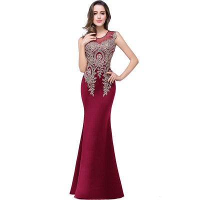 Outlet Appeal Lace Mermaid Prom Dresses Long Embroidery Evening Party Dress
