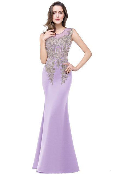 Outlet Appeal lavender / 2 Lace Mermaid Prom Dresses Long Embroidery Evening Party Dress