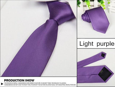 Outlet Appeal Lavender Solid 8cm slim ties men necktie Fashion Man Accessories For Party Business Formal lot