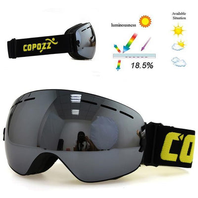 Outlet Appeal Lense Silver / China Pro Ski Mask Snowboard Goggles Double Layer UV400 Anti-fog