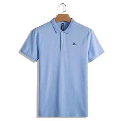 Outlet Appeal Light blue / M / China Pioneer Camp Polo shirts men solid polos male top quality 100% cotton casual summer