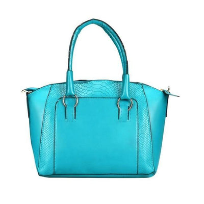 Outlet Appeal Light Blue Women Messenger bags Leather Satchel Tote Handbag Ladies Shoulder Bag
