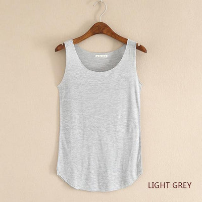 Outlet Appeal Light gray / One Size Fitness Tank Top T Shirt Plus Size Loose Model Women T-shirt Cotton O-neck Slim Tops