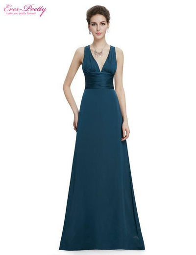Outlet Appeal Malachite Green / 4 Evening Dresses Ever-Pretty Elegant V Neck Long Formal Special Occasions