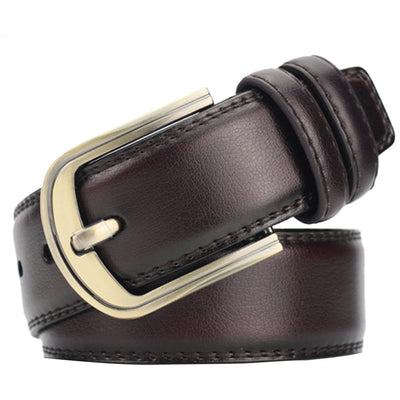 Outlet Appeal Men Belt with Pin Buckle Simple Vintage Waist Belt for Men