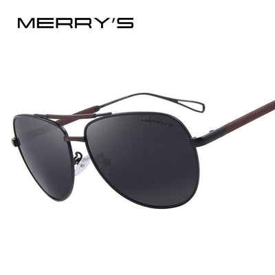 Outlet Appeal MERRY'S Men Classic Aviation Sun glasses HD Polarized Luxury Aluminum Driving Sun glasses S'8718