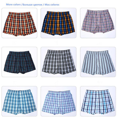 4-Pack Men's Classic Plaid Cotton Boxers Underwear