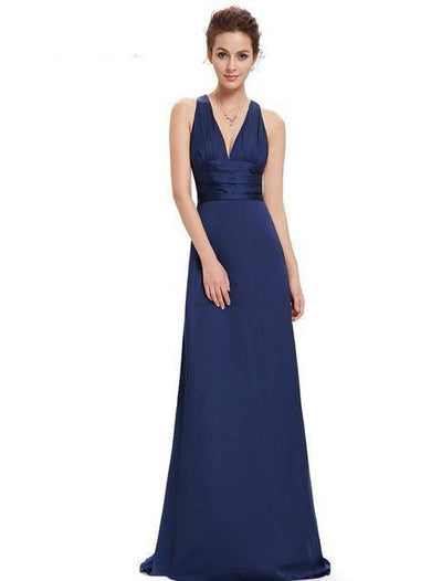 Outlet Appeal Navy Blue / 4 Evening Dresses Ever-Pretty Elegant V Neck Long Formal Special Occasions