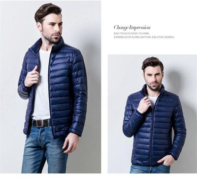 Outlet Appeal navy blue / S / China Mens Autumn Winter Duck Down Jacket