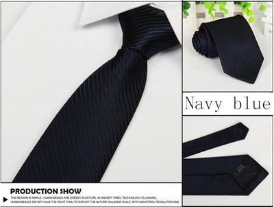 Outlet Appeal Navy blue Solid 8cm slim ties men necktie Fashion Man Accessories For Party Business Formal lot